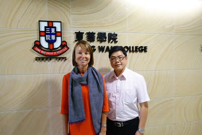 A representative from Ediburgh Napier University visits our College to discuss collaboration opportunities ( 16 September 2015)